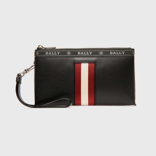 BALLY Beryer Leather Phone Wallet In Black