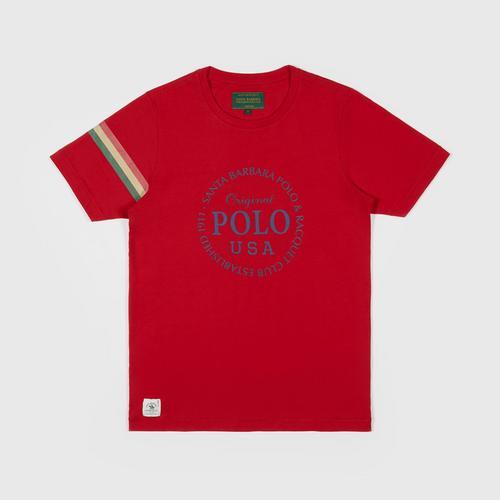SANTA BARBARA T Shirt  RED SIZE S