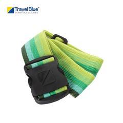 """Travel Blue TB040G Heavy Duty Luggage Strap Duty 2"""" - Green/Yellow"""