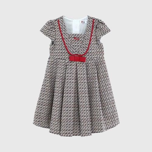LITTLE WACOAL Dress Skirt with red bow pattern (Brown)