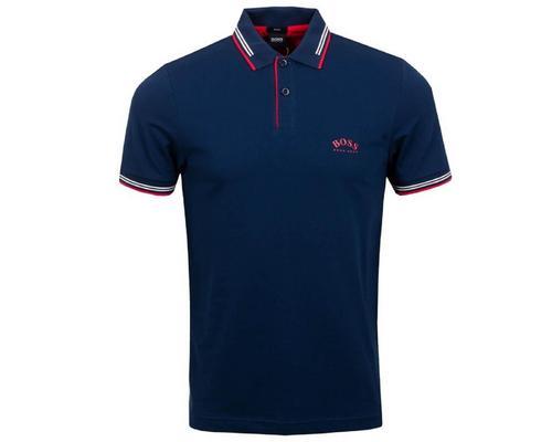 服装Hugo Boss Paul Curved  Slim Fit Polo (Navy Blue) Size M