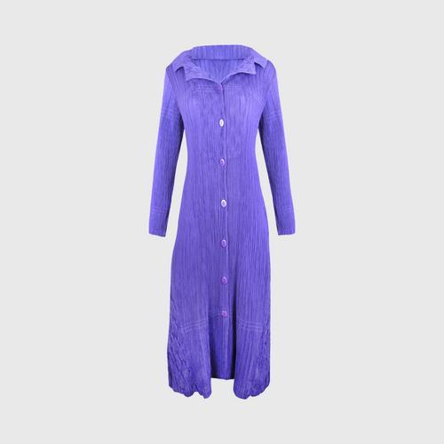 SHEENICHI PLEATS  Handmade collar dress Violet