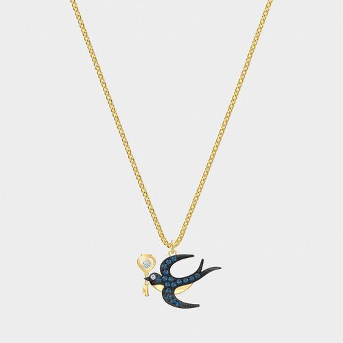 SWAROVSKI Tarot Magic Necklace, Blue, Gold-tone plated