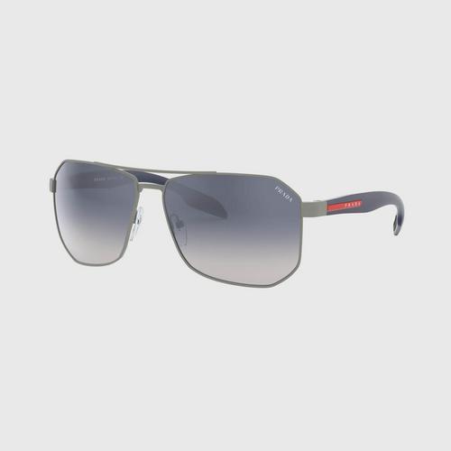 PRADA SPORT Gunmetal Rubber Metal Sunglasses 0PS 51VSDG11J062