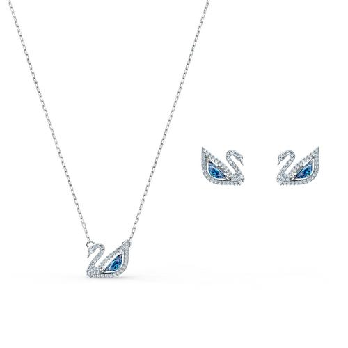 SWAROVSKI Dazzling Swan  Blue Set