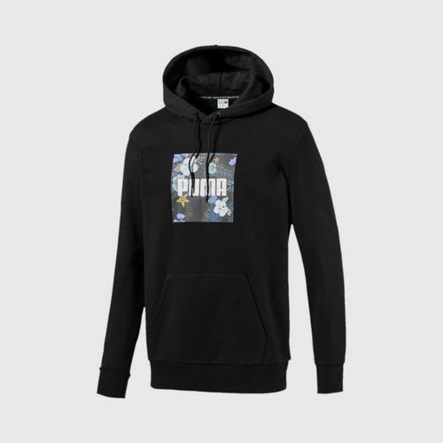 PUMA Men's Hoody Trend AOP Graphic Cotton Black Size : XS
