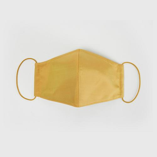 1000ROADS Silk Mask : Plain-Muslin-Cotton - Yellow