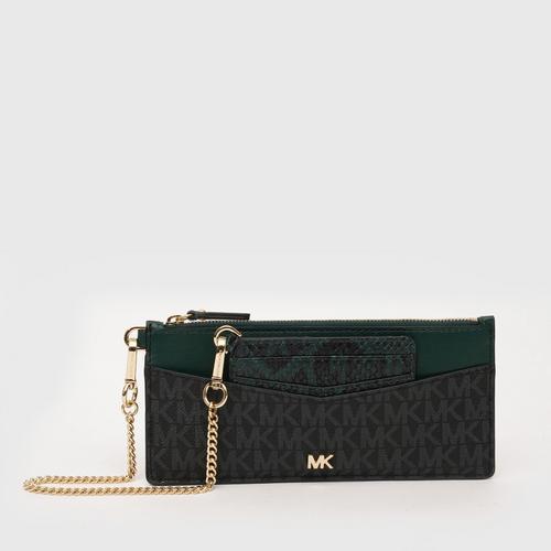 MICHAEL KORS Money Pieces Slim Chain Card Case - Black/RGGR
