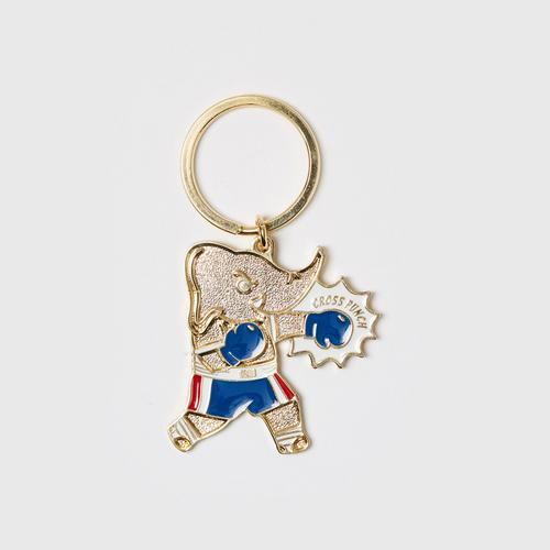 MAHANAKHON Chang Muay Thai Gold Cross Punch Keychain