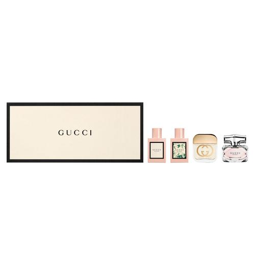 古驰 女士香水套装 (Gucci Bloom 花悦女士香水5ml + Gucci Bloom 花悦绿意女士淡香水5ml + Gucci Guilty 罪爱女士香水5ml + Gucci Bamboo 竹韵女士香水5ml)