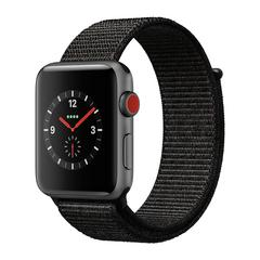 APPLE WATCH Series3 GPS+Cellular 42 mm Space Gray Aluminium Case with Black Sport Loop