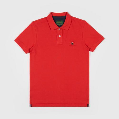 SANTA BARBARA Polo Shirt  RED SIZE S