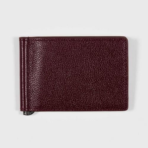 Longlai Men Leather Crip Wallet Burgundy Colour