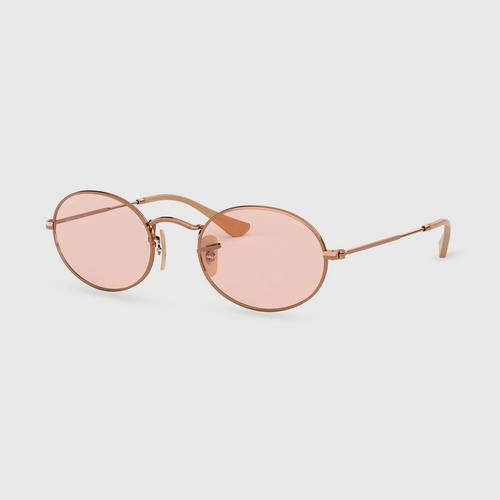 RAY-BAN Oval Copper Evolve Light Pink Unisex Sunglass