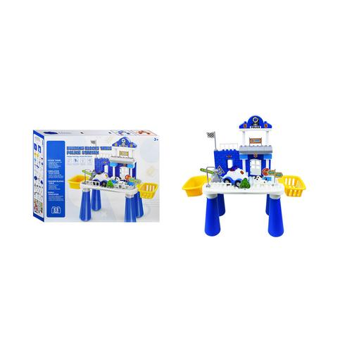 BB TOY  55 police station building boards with police cars and dogs.