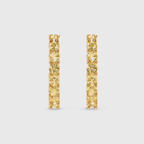 SWAROVSKI Vittore Hoop Pierced Earrings, Gold tone, Gold-tone plated