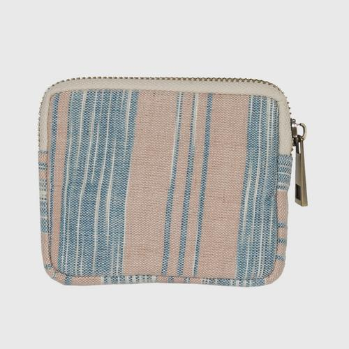 JUTATIP : 100% cotton coin purse with natural dyed Size 10x10x1.50 cm.