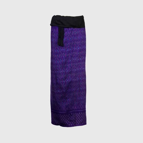 WANPEN THAISILK - Silk skirt pants Lantern pattern five Free size