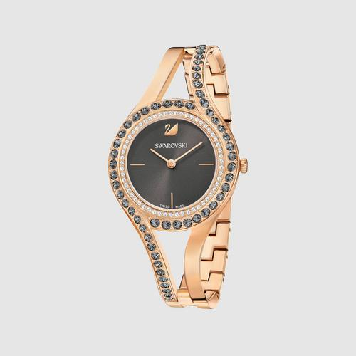 SWAROVSKI Eternal Watch, Metal bracelet, Dark gray, Rose gold tone