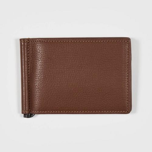 Longlai Men Leather Crip Wallet Brown Colour