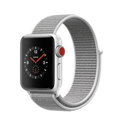 APPLE WATCH Series3 GPS+Cellular 38 mm Silver Aluminium Case with Seashell Sport Loop