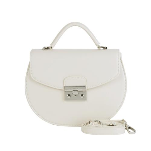 "MUNIGA ""AMANDA"" SHOULDER BAG (WHITE) L 22 x H 18 x W 7.5 cm."