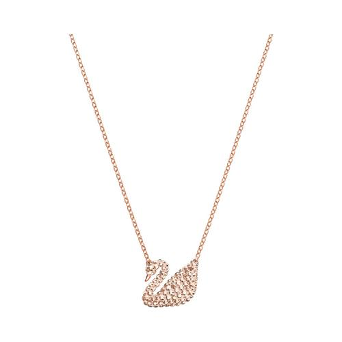 施华洛世奇 SWAROVSKI ICONIC SWAN 链坠, 白色, 镀玫瑰金色调 颜色: 白色 长度: 38 厘米 链坠: 2x1.5 厘米