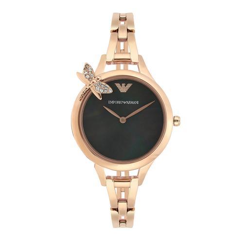 极光指针式玫瑰金精钢腕表