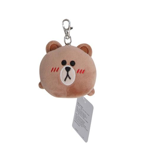 LINE FRIENDS Key chain Brown Lying