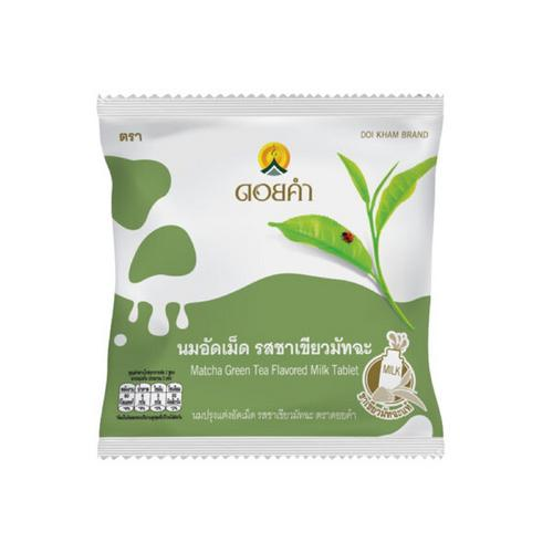 DOIKHAM Matcha Green Tea Flavored Milk Tablet 20 G.