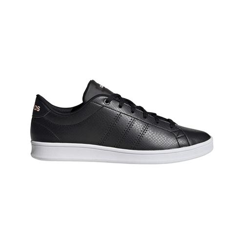 ADIDAS ADVANTAGE CLEAN QT SHOES CORE BLACK - SIZE 4