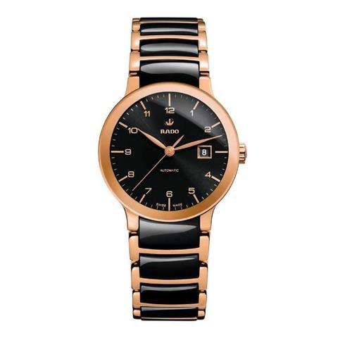 RADO Centrix 28 mm. With Rose Gold PVD Stainless Steel Bracelet