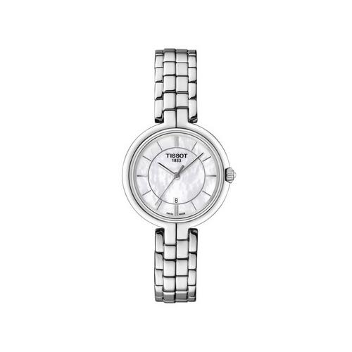 TISSOT Flamingo Steel 30mm (White MOP Dial)