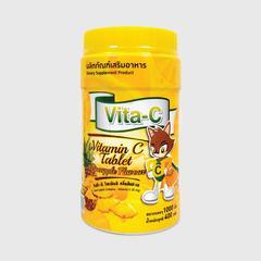 Vita - C pineapple flavor (维生素C保健食品,菠萝味,一片维C含量为25毫克) 400 g.
