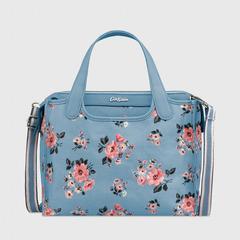 Cath Kidston Kirby Bag Grove Bunch Grey Blue