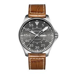 HAMILTON XL Khaki Pilot steel 46mm, grey