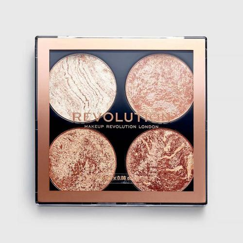 MAKEUP REVOLUTION Cheek Kit - Don't Hold Back 4 x 0.08 oz (Bronzer & Highlighter)