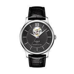 TISSOT Tradition Open Heart Steel  40mm (Black Dial)