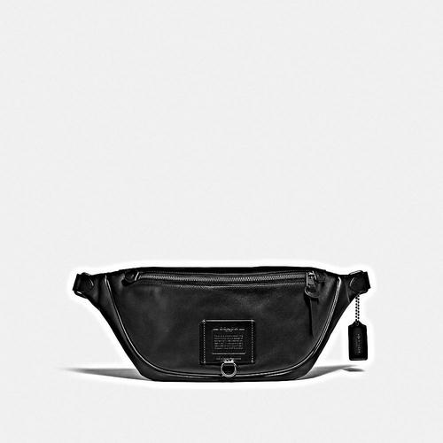 COACH Rivington Belt Bag in Soft Grain Leather - JI/Black