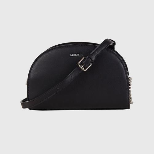 """MUNIGA """"OLIVE"""" Shoulder Bag (black)"""