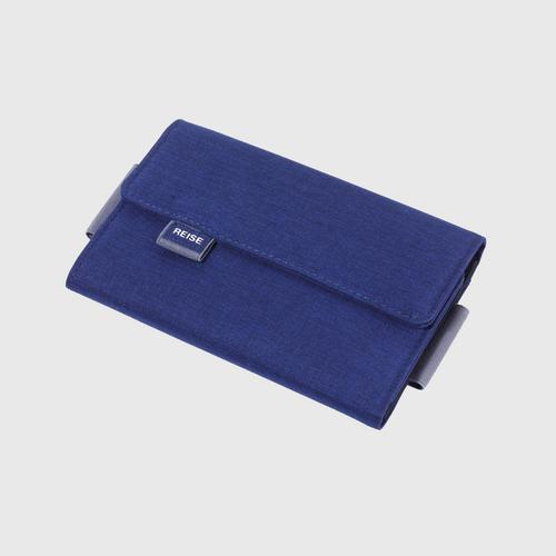 TROIKA TRV55/DB Organiser Case for Travel Documents with Magnetic Closure - Dark Blue