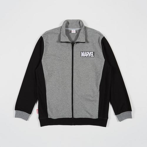 MARVEL Men Jacket Marvel logo front&Back Grey/Black-M
