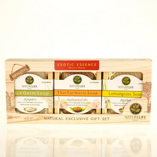 NATURELIFE HERB Exotic Essence Natural Soap Set 3 x 100 g