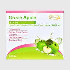 Diva Collagen Tripeptide Green Apple Flavour (Dietary supplement product) 180g. (10 Sachets)