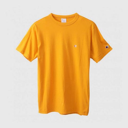 CHAMPION Men Basic T-Shirt Yellow Size S