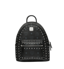MCM STARK OUTLINE STUDS BACKPACK - BLACK (Mini)
