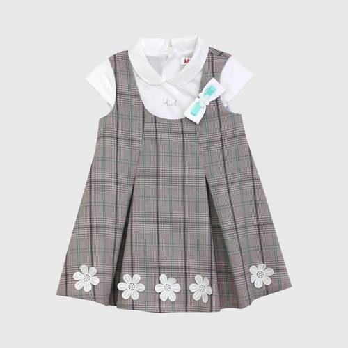 LITTLE WACOAL Dress Skirt with flower pattern (Brown)