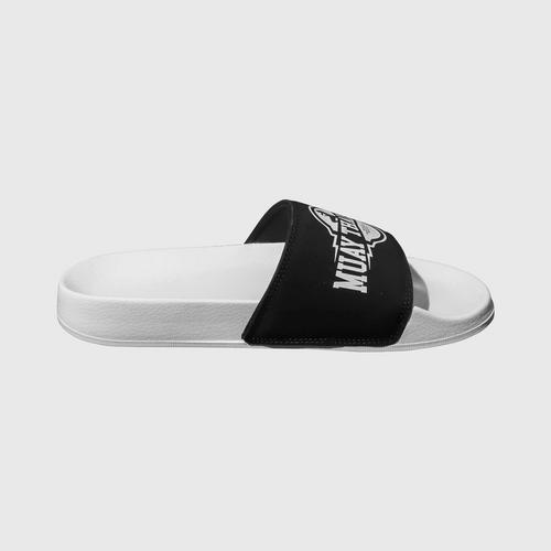 Muay Thai Street Shoes Comfort Slides Black-White Size 38