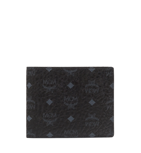 MCM Claus Bifold Wallet in Visetos Original - Black (Small)