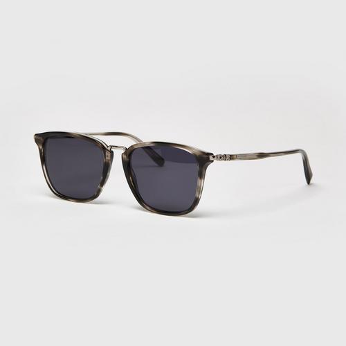SALVATORE FERRAGAMO Striped Brown Metal Sunglasses SF910S-003/5418